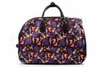 TORBA podróżna bagaż podręczny brązowa kolorowa ptaki