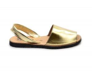 Sandały 37 skórzane VERANO 201 złote klapki hiszpańskie