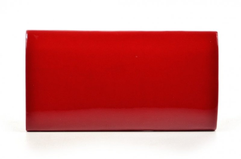 TOREBKA kopertówka wizytowa ciemna czerwona lakierowana