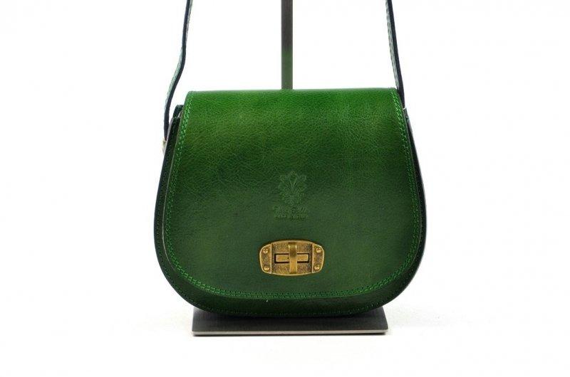 TOREBKA włoska LISTONOSZKA skóra zielona