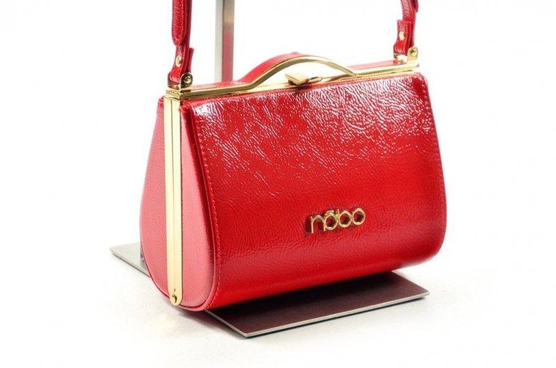TOREBKA damska NOBO BAG 0991 czerwona wizytowa kopertówka