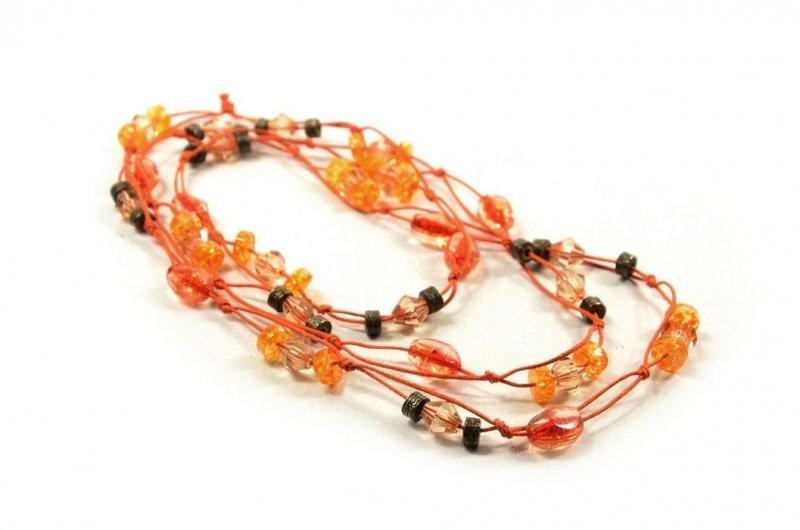 Korale naszyjnik pomarańczowe żółte