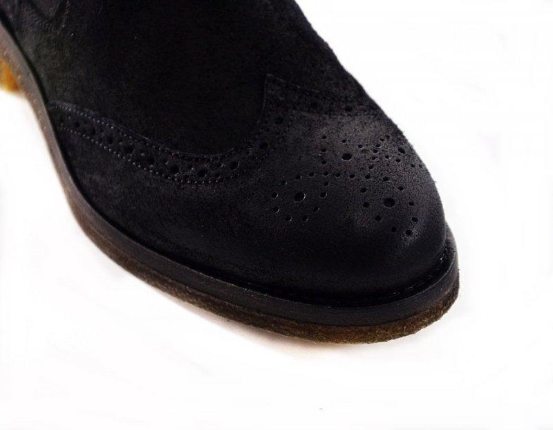 Botki portugalskie 37 5774 PEAR SHOOZ czarne skóra brogsy