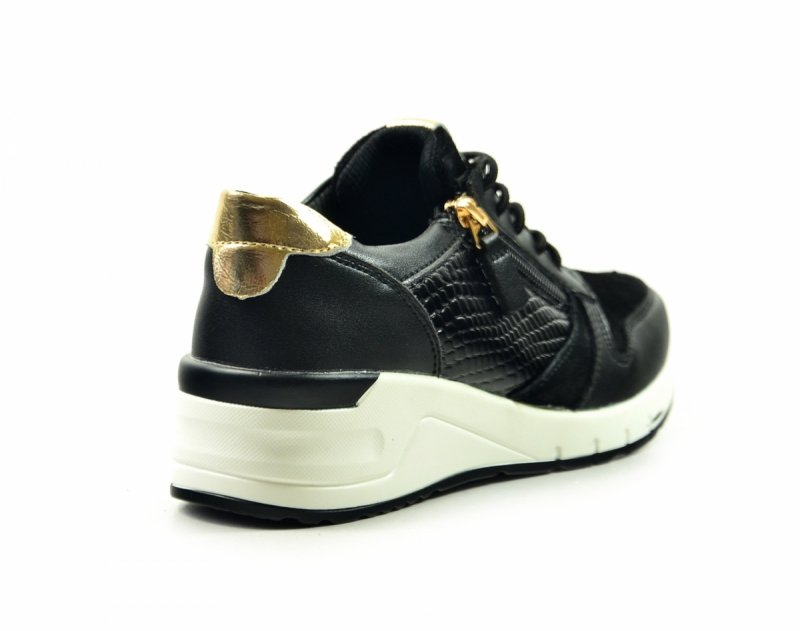 Półbuty 40 sneakersy FILIPPO 2052 skóra czarne
