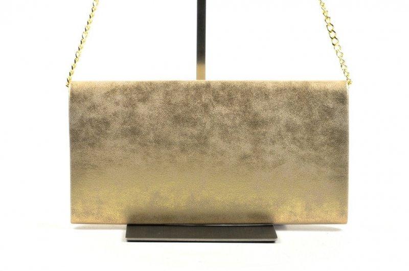 TOREBKA kopertówka wizytowa złota marmurek