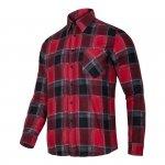 LAHTI PRO Koszula robocza flanelowa 2XL krata 120g czerwona