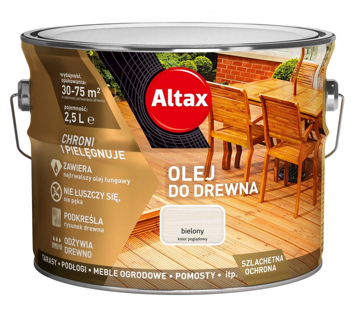 Altax Olej Do Drewna 25l Bielony Biały Tarasów