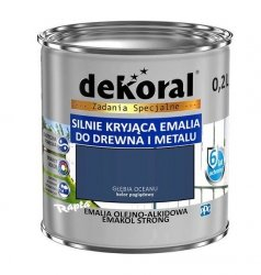 Dekoral Olejna 0,2L GŁĘBIA OCEANU emakol alkidowa emalia strong