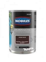 Chlorokauczuk 1L BRĄZOWY CZEKOLADOWY RAL 8017 Nobiles farba emalia