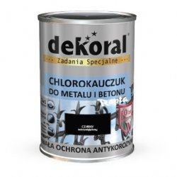 Dekoral Chlorokauczuk 5L CZARNY RAL9005 farba emalia