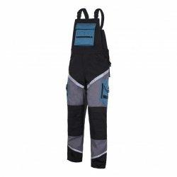 LAHTI PRO Spodnie robocze ogrodniczki ochronne 2XL odblaski