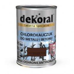 Dekoral Chlorokauczuk 5L BRĄZ CZEKOLADOWY ŚREDNI RAL8017 farba emalia