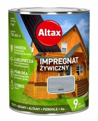Altax Impregnat 0,75L SZARY Żywiczny Drewna Szybkoschnący