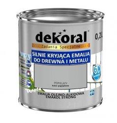 Dekoral Olejna 0,2L POPIELATY emakol alkidowa emalia strong