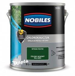 Chlorokauczuk 5L ZIELONY MCHOWY RAL 6005 Nobiles farba emalia