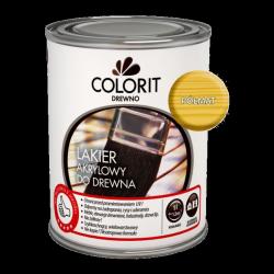 Colorit Lakier Akrylowy Drewna 10L PÓŁMAT BEZBARWNY z filtrami UV do wewnątrz i na zewnątrz nieżółknący