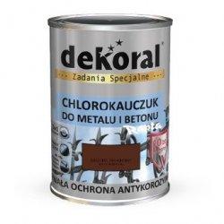 Dekoral Chlorokauczuk 10L BRĄZOWY MAHONIOWY RAL8016 farba emalia