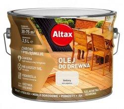 Altax olej do drewna 2,5L BIELONY BIAŁY tarasów
