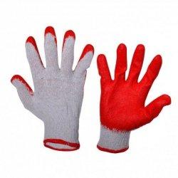Rękawice ochronne wampirki lateksowe roz. 9 L robocze czerwone