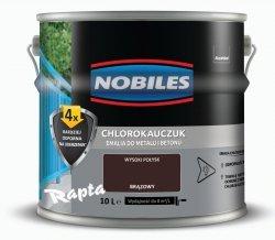 Chlorokauczuk 10L BRĄZOWY Nobiles farba emalia