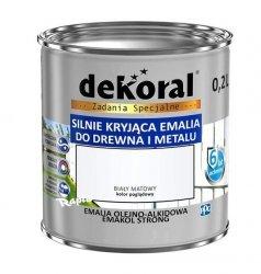 Dekoral Olejna 0,2L BIAŁY MAT emakol alkidowa emalia strong