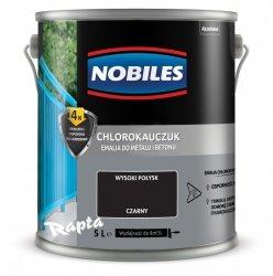 Chlorokauczuk 5L CZARNY Nobiles farba emalia czarna