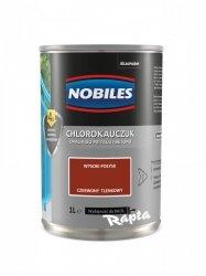 Chlorokauczuk 1L CZERWONY TLENKOWY Nobiles farba emalia