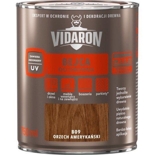 Vidaron Bejca 0,75L B09 ORZECH AMERYKAŃSKI do drewna