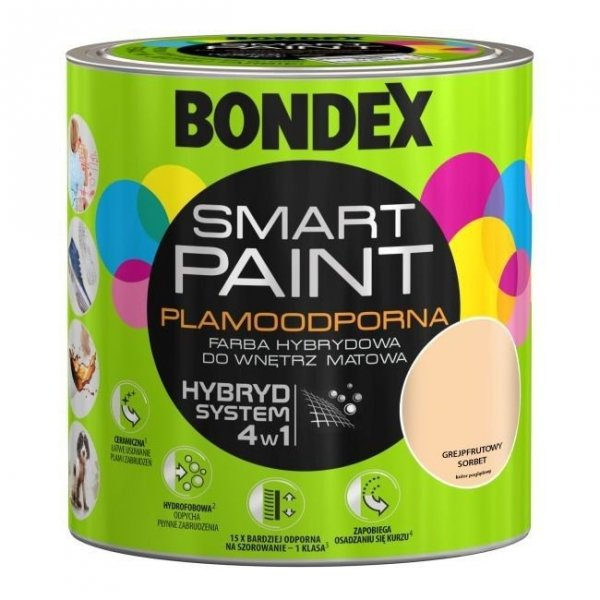 Bondex Smart Paint 2,5L GREJPFRUTOWY SORBET