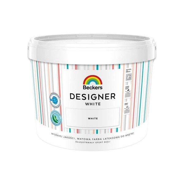 Beckers Designer White 10L Biała farba lateksowa