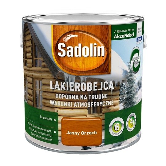 Sadolin Odporna lakierobejca 2,5L ORZECH JASNY drewna
