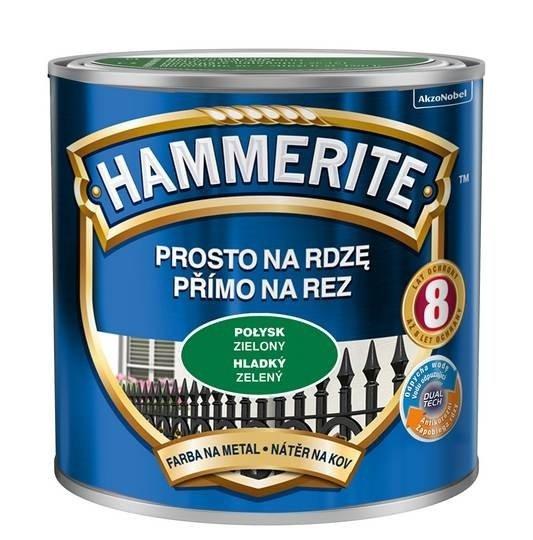 Hammerite Na Rdzę 0,25L ZIELONY POŁYSK hamerite farba