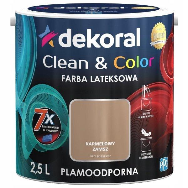 Dekoral CLEAN COLOR 2,5L Karmelowy Zamsz satynowa farba lateksowa