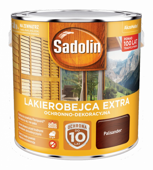 Sadolin Extra lakierobejca 2,5L PALISANDER 9 drewna