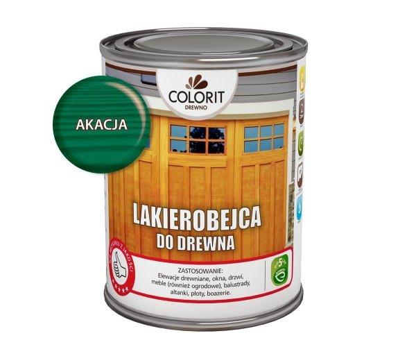 Colorit Lakierobejca Drewna 0,75L AKACJA ZIELONY szybkoschnąca satynowa farba do