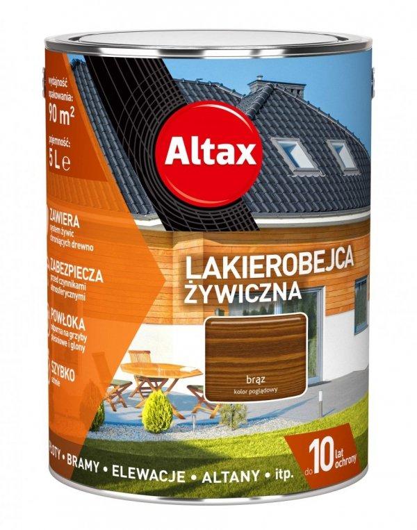 Altax Lakierobejca 5L BRĄZ Żywiczna Drewna Szybkoschnąca