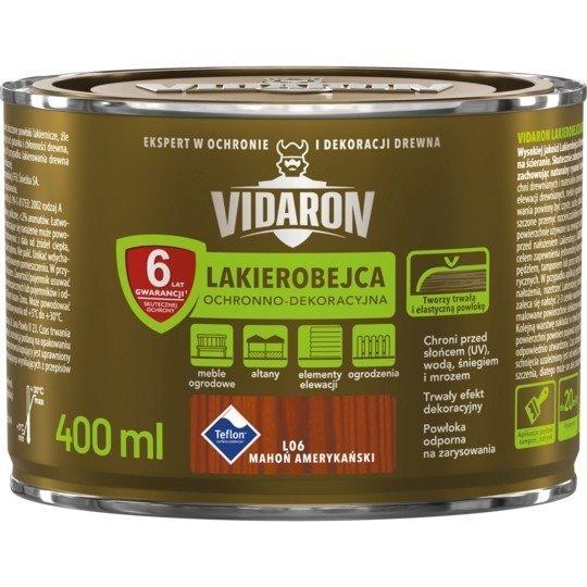 Vidaron Lakierobejca 0,4L L06 Mahoń Amerykański do drewna