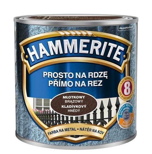 Hammerite Na Rdzę 0,25L BRĄZOWY MŁOTKOWY hamerite farba
