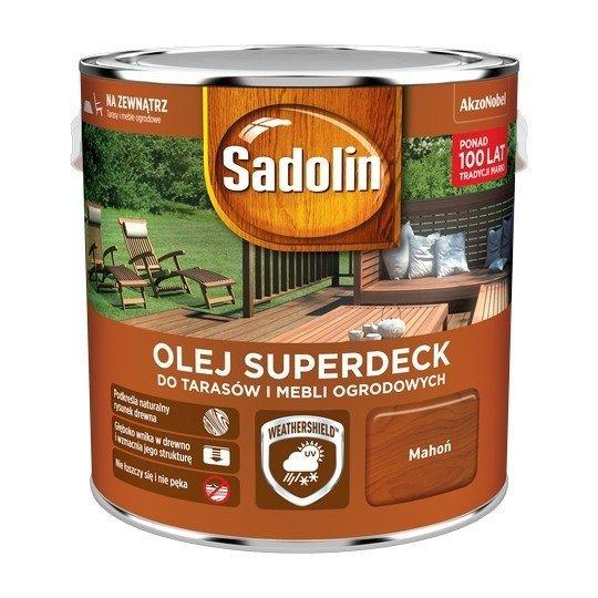 Sadolin Superdeck olej 2,5L MAHOŃ 75 tarasów drewna do