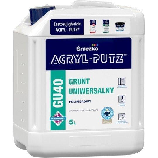 Acryl-Putz Grunt Polimerowy Uniwersalny Uni 5L GU40 mleczko unigrunt