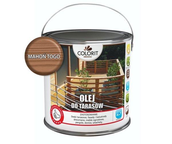 Colorit Olej Do Drewna Tarasów 2,5L MAHOŃ TOGO