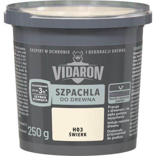 Vidaron Szpachla Drewna 0,25kg ŚWIERK H03 szpachlówka