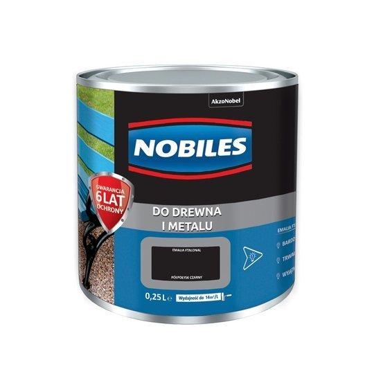 Nobiles alkidowa 0,25L CZARNY farba Ftalonal emalia czarna