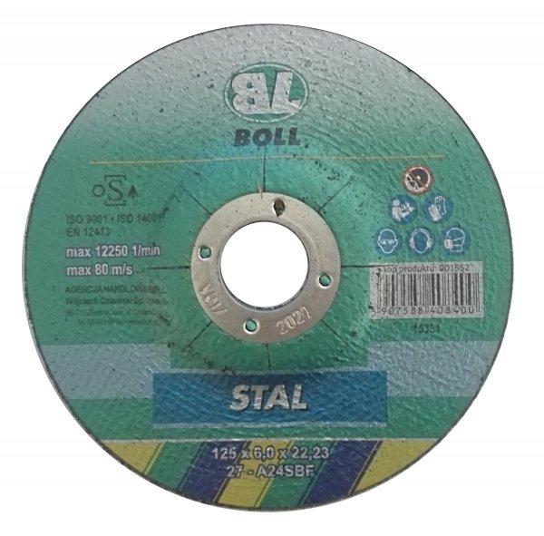 BOLL Tarcza cięcia STAL 27-125x6mm A24SBF METAL stali metalu