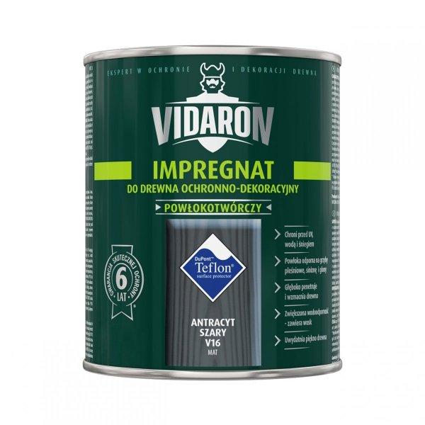 Vidaron Impregnat 9L V16 Antracyt Szary do drewna powłokotwórczy