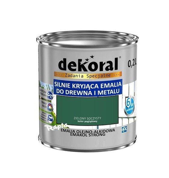 Dekoral Olejna 0,2L ZIELONY SOCZYSTY emakol alkidowa emalia strong