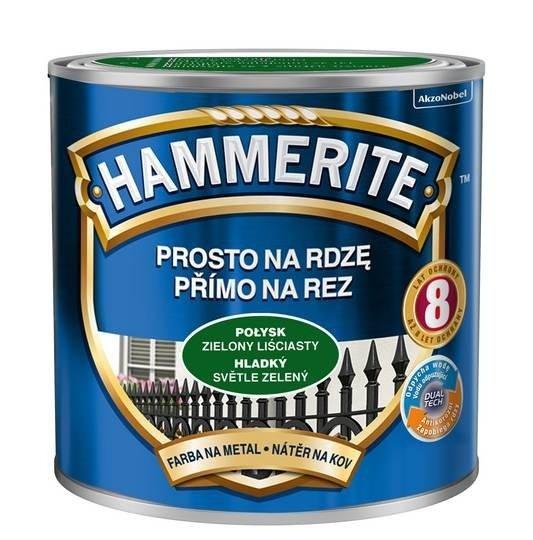 Hammerite Na Rdzę 0,25L ZIELONY LIŚCIASTY POŁYSK hamerite farba
