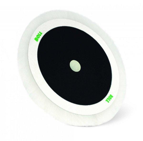 Futro polerowania polerskie 180mm RZEP laminatu wełna naturalna