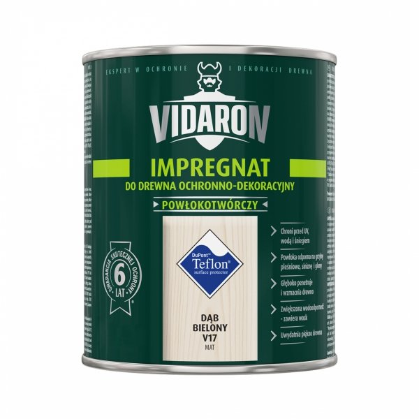 Vidaron Impregnat 9L V17 Dąb Bielony do drewna powłokotwórczy