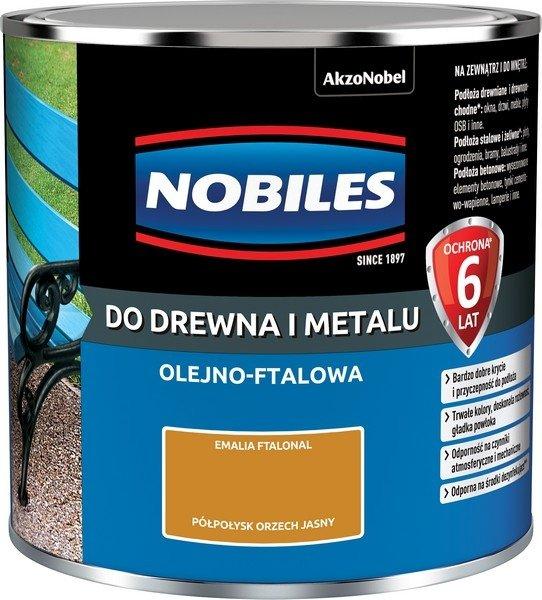 Nobiles olejna 0,25L ORZECH JASNY farba Ftalonal emalia